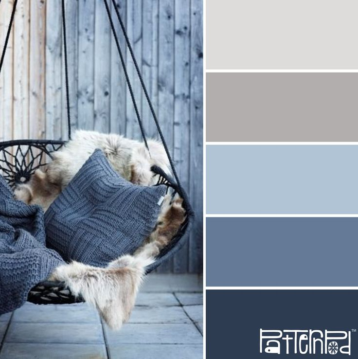 blue, gray and crème colors