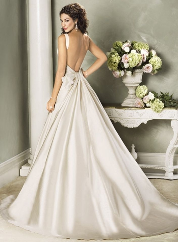 Open Back Wedding Dress By Sara