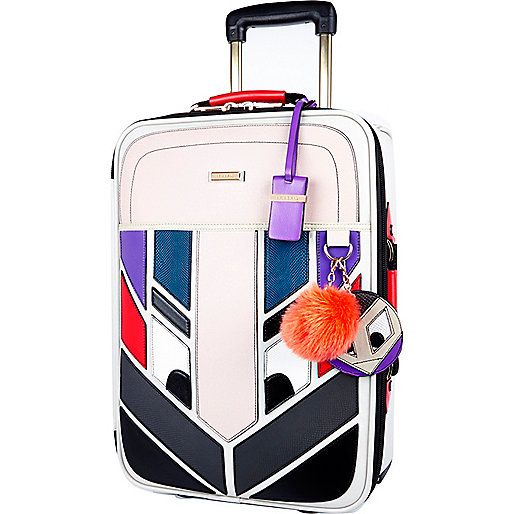 Grey monster wheelie suitcase - make up bags / luggage - bags / purses - women