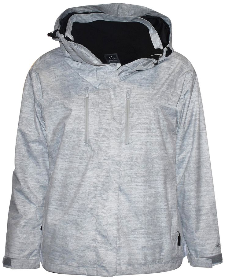 Pulse Womens Plus Size 3in1 Bounty Ski Jacket Coat White Grey