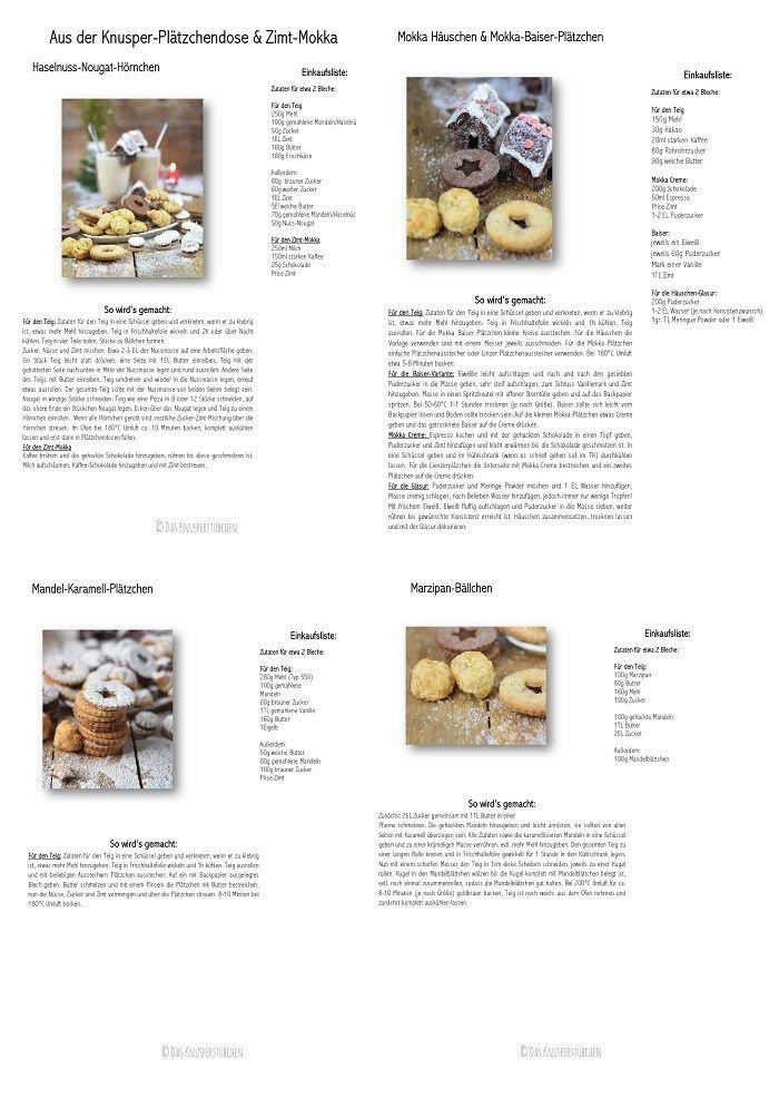 Plätzchen: mit Nougat, Marzipan oder Kaffee-Schokolade