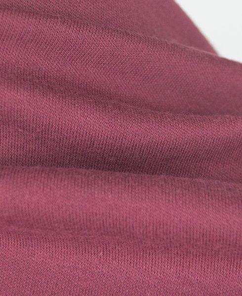 Soft wine cotton jersey fabric