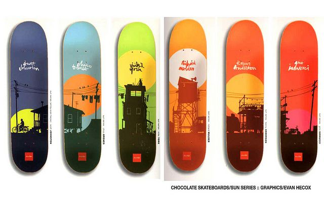 Chocolate Skateboards   Skateboard graphics  Sun Series   Evan Hecox   Skateboarding