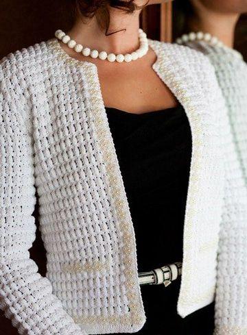 chalecos tejidos con gancho elegantes