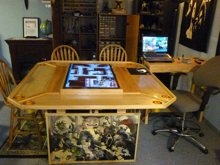 Game room 2 by on deviantart for Dining room game table