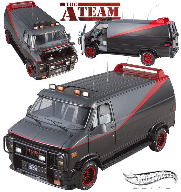 A-Team Classic Van Hot Wheels Elite 1:18 Vehicle Cult Classic Collection