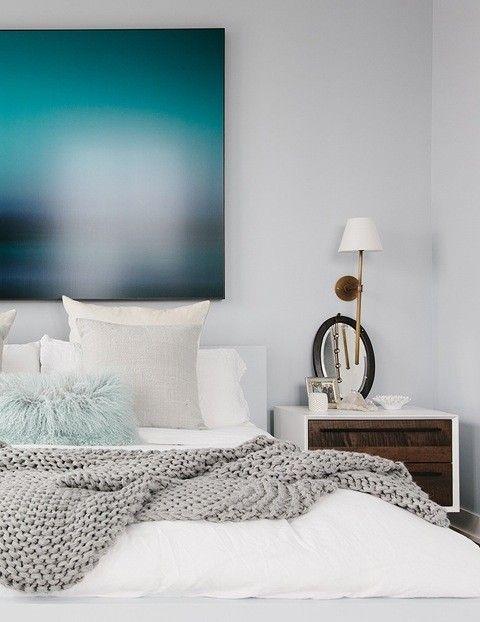 Bright White Bedroom: Athena Calderone's Home