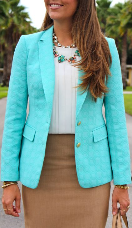 Womens Turquoise Blouse