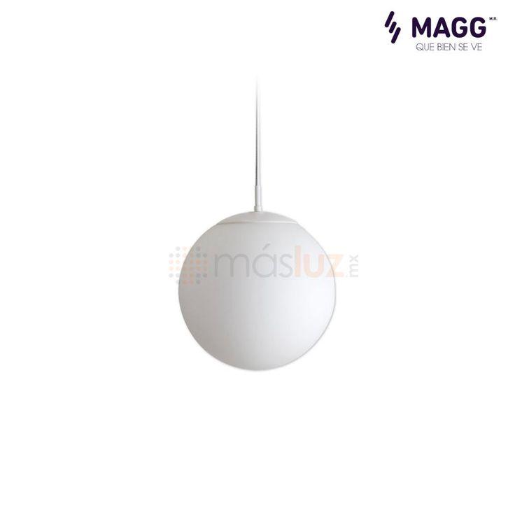 """Lámpara Globe 12"""" Blanco MAGG - masluz"""