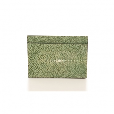 Green Stingray Credit Card Holder by Namu on GIFTLAB in Phone & Tablet Covers - Luxury Accessories http://www.giftlab.com/gb/green-stingray-credit-card-holder