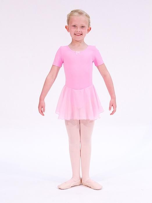 987ad7b229 Girls pink skirted leotard by Dansez This leotard is for girls aged 3 to 6  years old - perfect for your daughter s first ballet class!