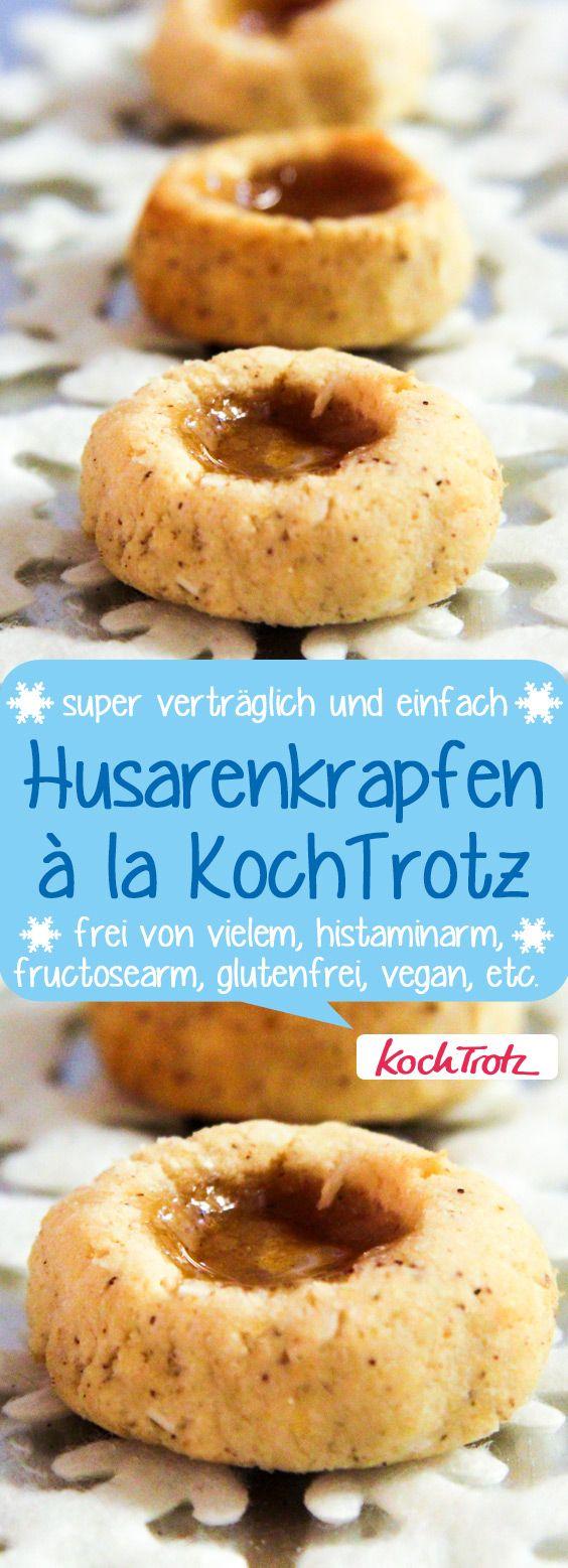 leckere Husarenkrapfen #glutenfrei #laktosefrei #fructosearm #vegan #histaminarm #weihnachten #plätzchen