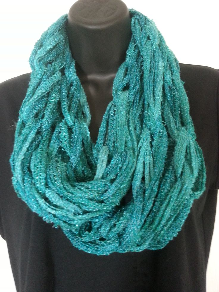 Infinity Scarves $25.00 Turquoise Blue Sparkle