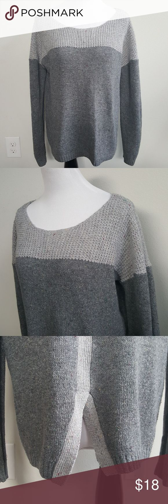Olivia Sky Gray Colorblock Scoop Neck Sweater Condition: good Brand: Olivia Sky Color: gray Size: medium   🔮 Open to offers 💸 Bundle to save 💰 No trades🚫  ⚡Bundle 2 or more items under $15 and I'll send you an offer with a 30% discount (at least!)⚡ Olivia Sky Sweaters Crew & Scoop Necks