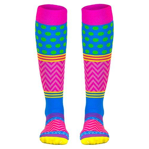 Special Offer: $24.99 amazon.com These compression socks use great colors and designs that come together in one great looking pair of socks! Compression socks are great for anyone on their feet all day including nurses as well as travel and sports. These Run Technology socks feature true...