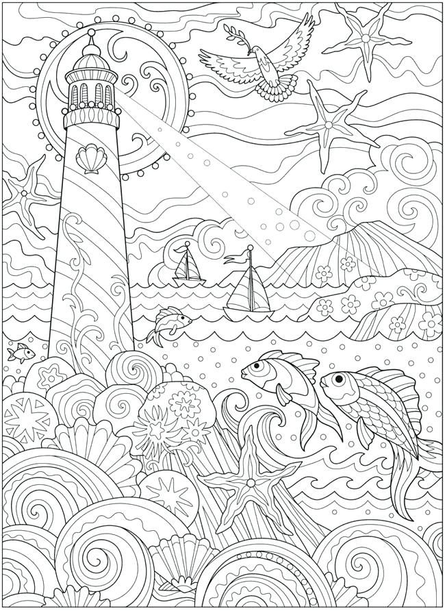 Ocean Coloring Pages For Adults Ocean Coloring Pages Animal
