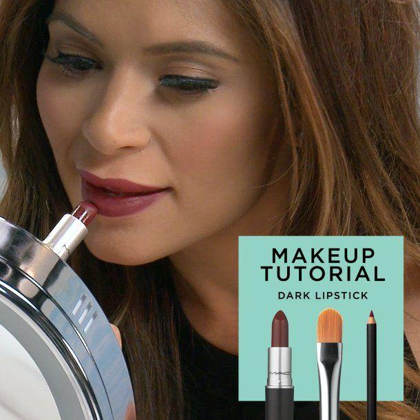 Tips for Applying Dark Lipstick