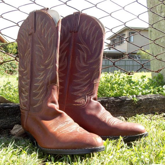 Vintage Cowboy Boots Women's Leather Boots by VintageSquirrels, $75.00