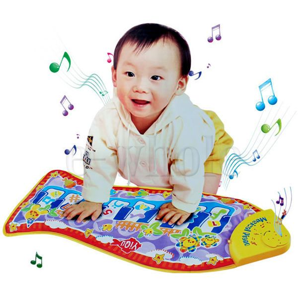 Baby Child Kid Popular Piano Music Fish Animal Mat Touch Kick Play Fun Toy