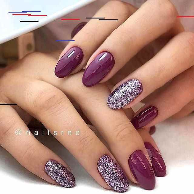 Lila Und Glitter Nail Art Design Today Pin In 2020 Mauve Nails Fall Gel Nails Cute Nails For Fall