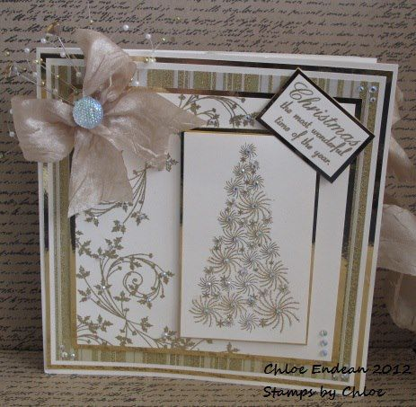 Stamps by Chloe Starry Tree and Holly Scroll