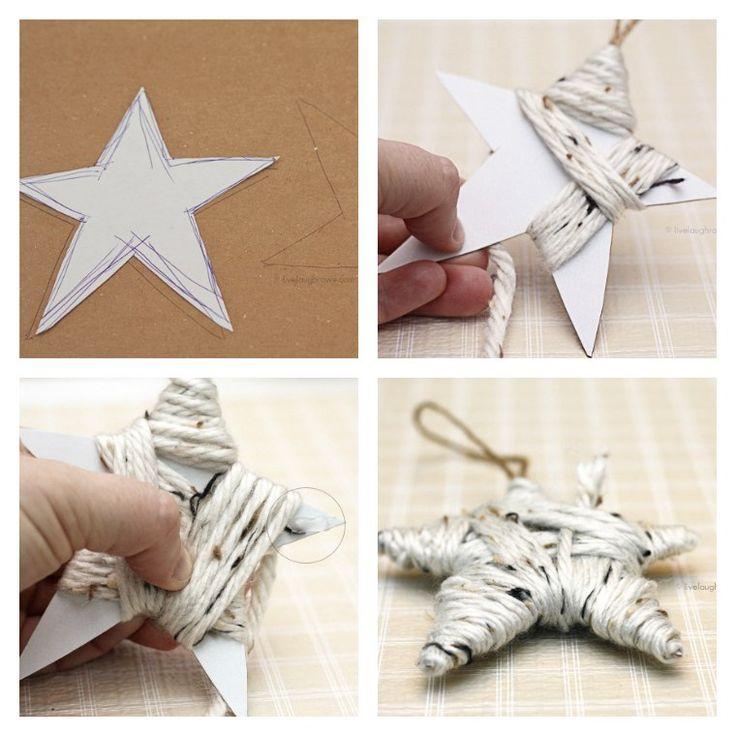 faire une étoile de Noël en papier et laine
