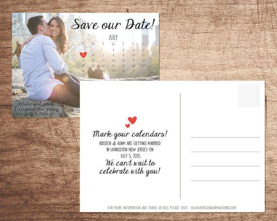 Photo Calendar Save our Date DIGITAL FILE by InvitesByAllie