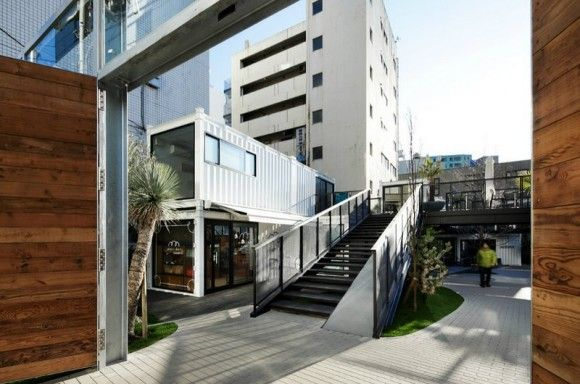 shipping container retail stores in Japan