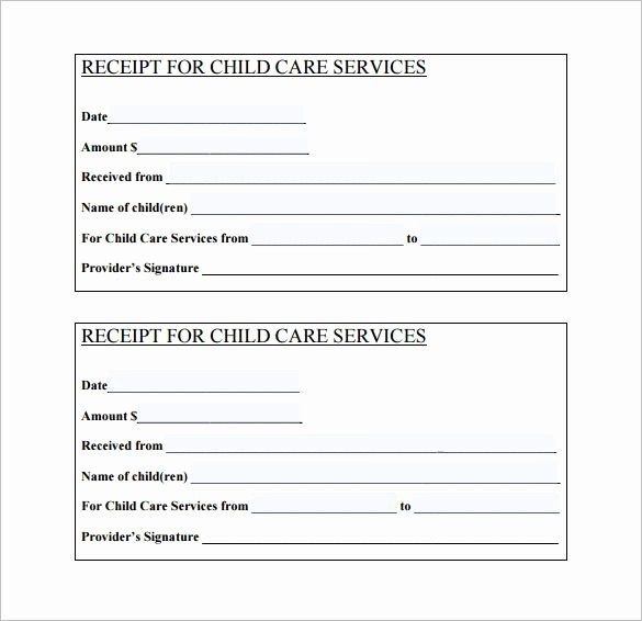 Proof Of Child Care Letter Fresh Daycare Receipt Template 12 Free Word Excel Pdf Format Download Receipt Template Invoice Template Templates
