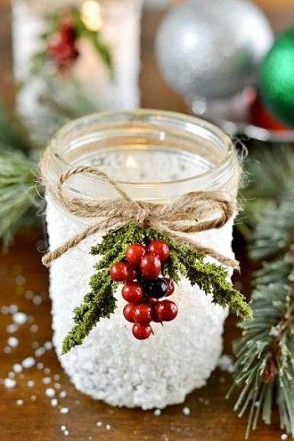 Décoration de Noël avec une mason jar