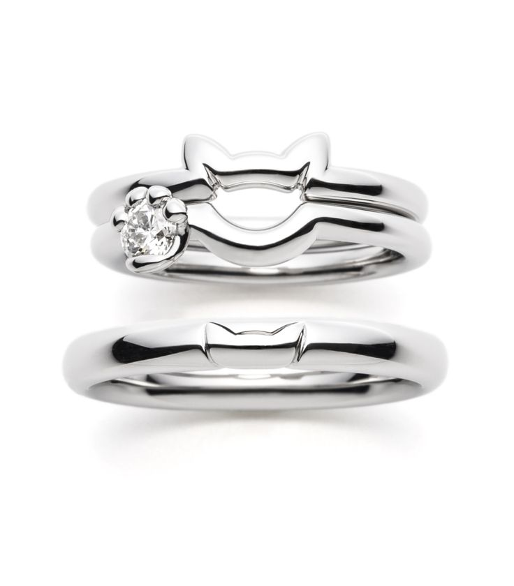 Cat rings in silver                                                                                                                                                                                 More