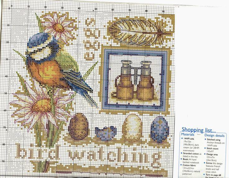Punto croce - Schemi Gratis e Tutorial: Raccolta schemi a punto croce - Uccelli
