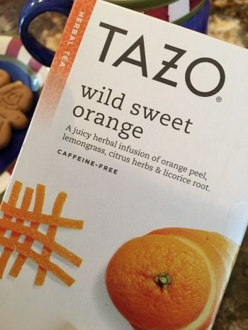 TAZO WILD SWEET ORANGE TEA WWW.TAZO.COM (MY PERFECT CUP OF TEA... ONE LICORICE SPICE TEA BAG AND ONE WILD SWEET ORANGE TEA BAG)