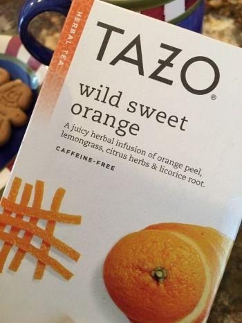 TAZO WILD SWEET ORANGE TEA WWW.TAZO.COM (MY PERFECT CUP OF TEA... ONE LICORICE SPICE TEA BAG AND ONE WILD SWEET ORANGE TEA BAG)