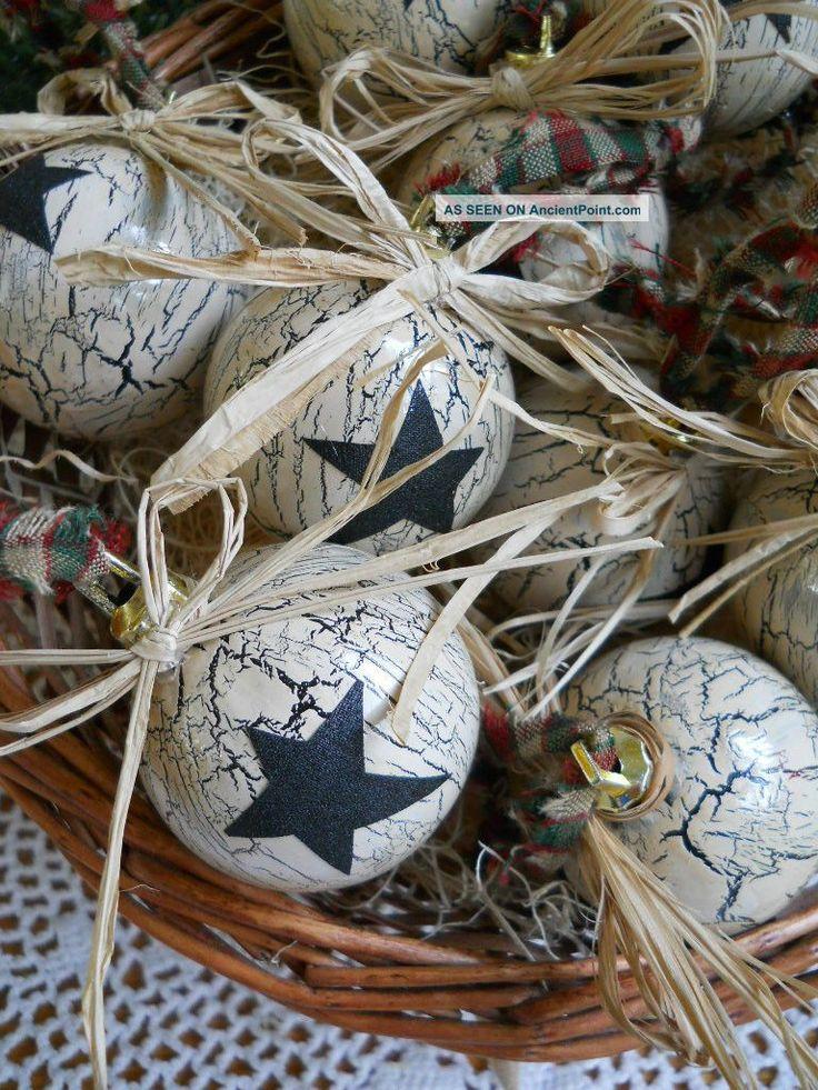 Primitive Christmas Ornaments! | Christmas | Pinterest