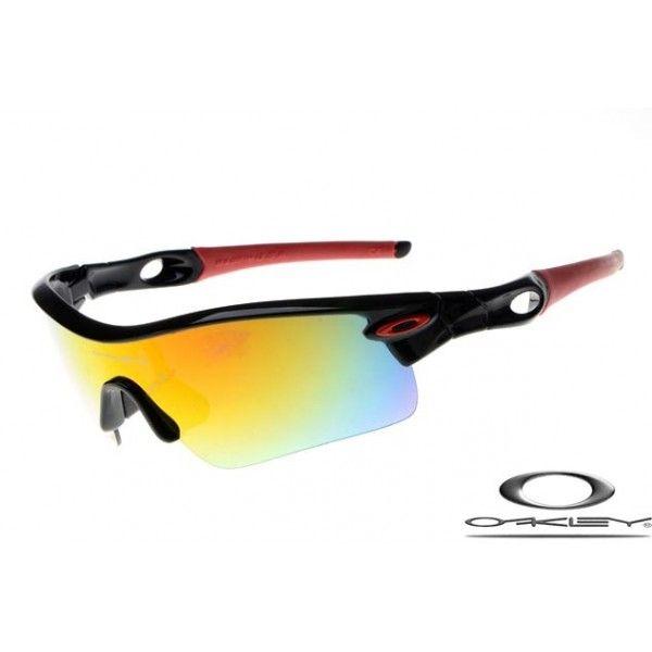Oakley Radar Path Sunglasses with Polished Black Frame/Fire Iridium Lens