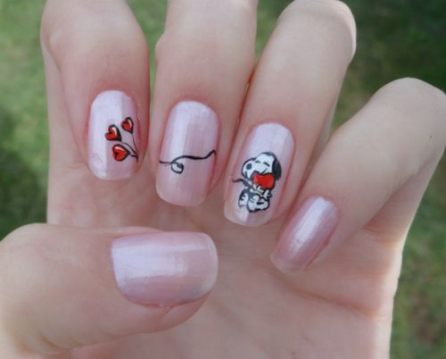 Snoopy Nails - Best 25+ Snoopy Nails Ideas On Pinterest Cartoon Nail Designs