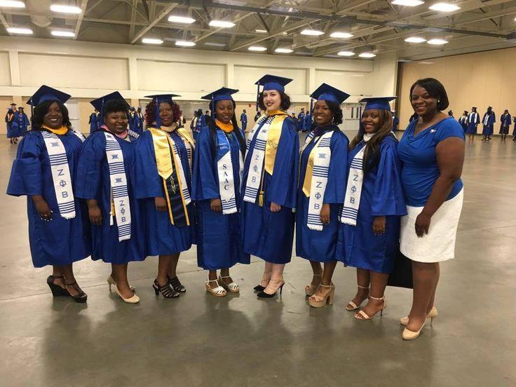 Congratulations! Omega Beta Chapter, Fayetteville State University, Fayetteville, NC - May 2016. Sorors Ashley Artis, Whitney Denise Wilson, Belinda Adams, Renee Guischard, Cynthia Hohman, Erin Day and Kiara-Patrice Geiger.