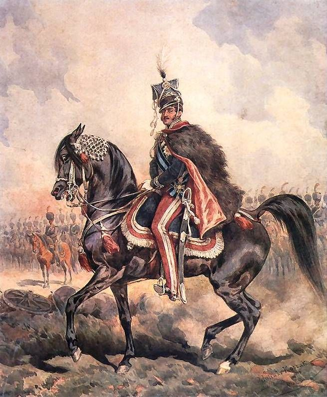 Portrait of Prince Jozef on Horseback - Juliusz Kossak