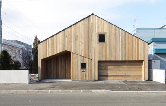 Minimalist house by Yoshichika Takagi in Sapporo, Japan.