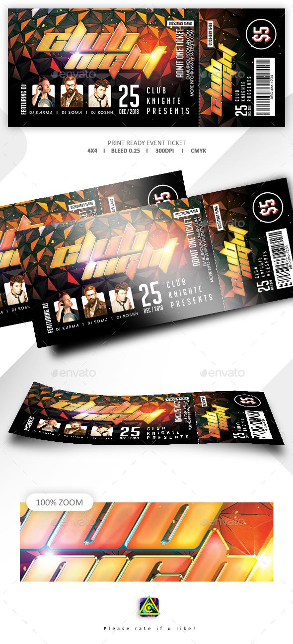 concert event tickets template photoshop psd concert passes