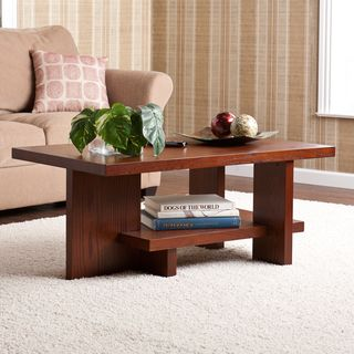 @Overstock.com - Benton Brown Mahogany Coffee Table - Enhance your home with this mahogany coffee table from Benton in an extremely modern style. The unusual design features interlocking boards that create a practical storage shelf for your use. It will work well in nearly any type of home decor.  http://www.overstock.com/Home-Garden/Benton-Brown-Mahogany-Coffee-Table/7021970/product.html?CID=214117 $191.69