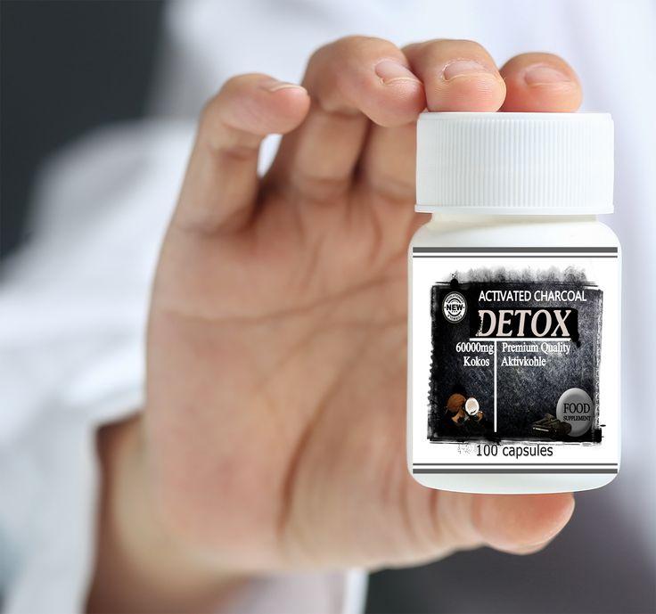 Detox Activatet Charcoal Capsules 600mg
