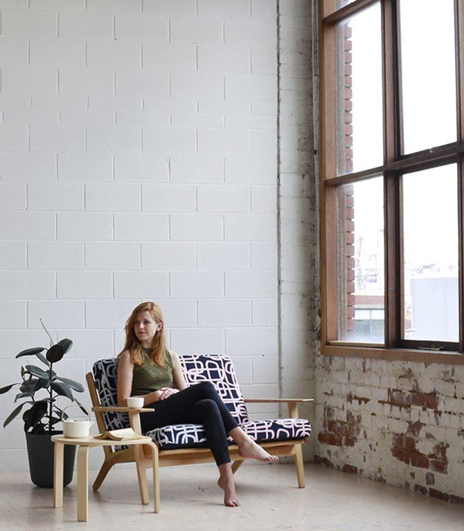 Daisy Watt - RMIT textile design. A double weave, jacquard fabric woven with mercerised cotton.