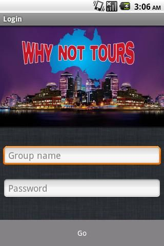 Australia's Social Travel Planners - Manage your tours online and chat with your tour members on the Why Not Tours Android app!  http://Mobogenie.com