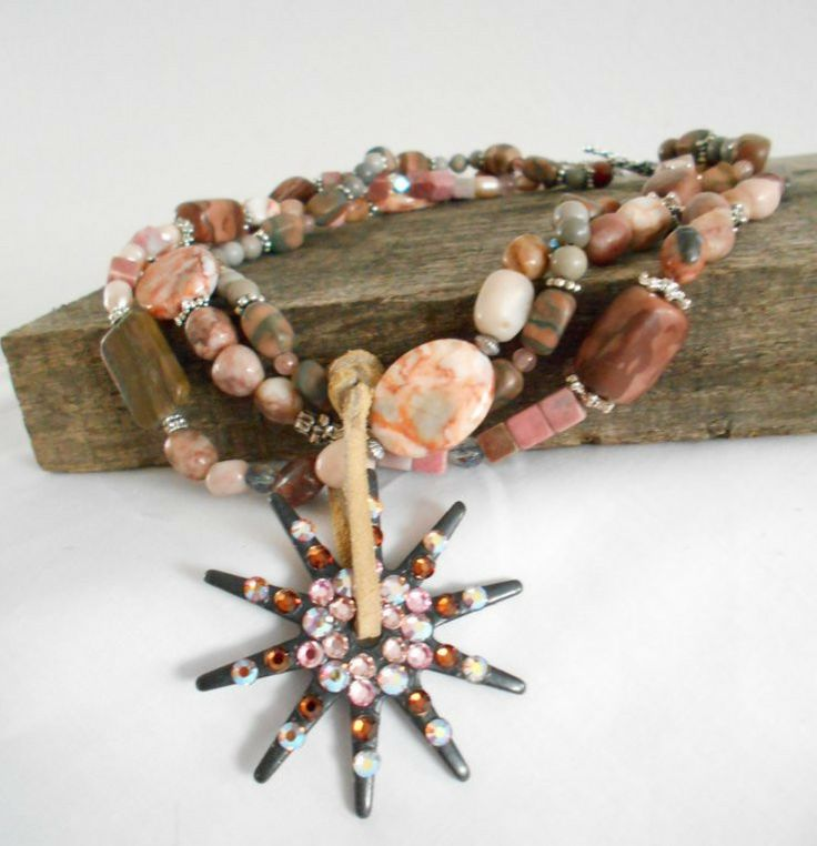 Pink Bling Spur Rowel Cowgirl Necklace #sassycactus