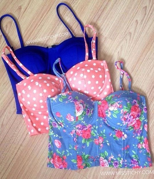 Bustier tops. So cute!