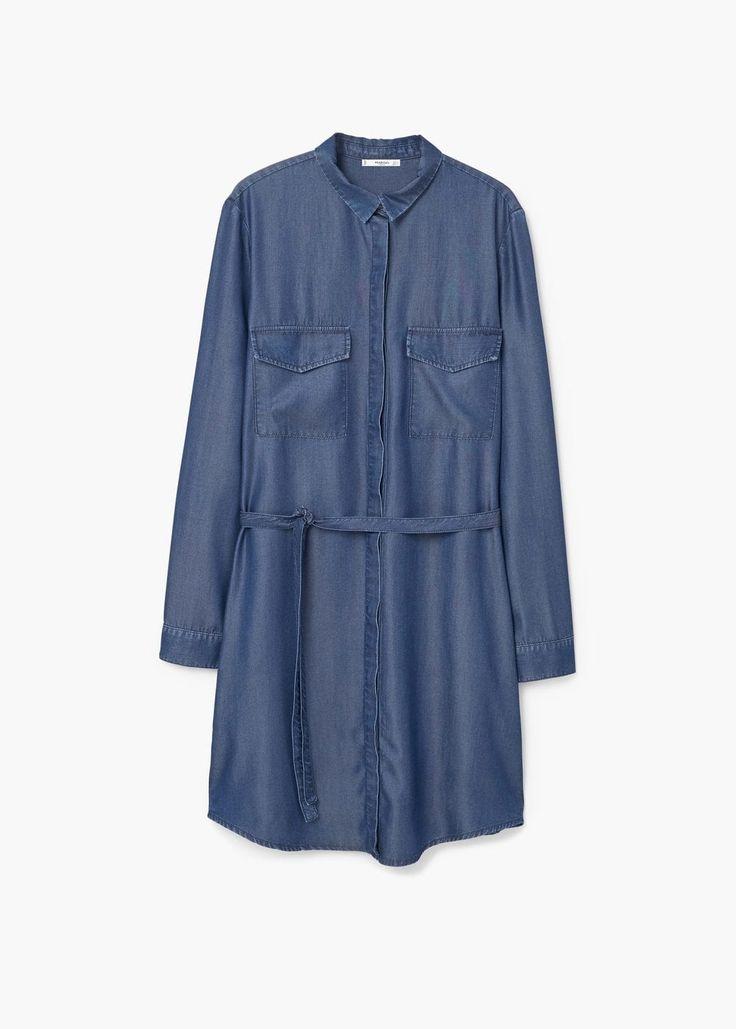 Dżinsowa sukienka miękka tkanina | MANGO