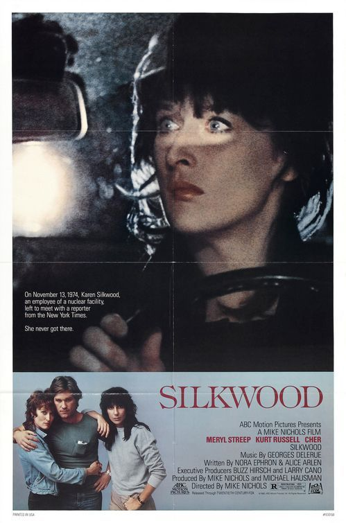 Silkwood (1983) On November 13, 1974, Karen Silkwood, an employee of a nuclear facility left to meet with a reporter from the New York Times. She never got there.