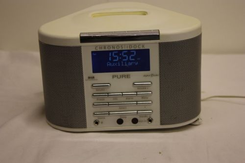 Pure #chronos idock dab #radio  fm alarm #clock white with ipod dock item code m4,  View more on the LINK: 	http://www.zeppy.io/product/gb/2/252611687543/